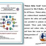 Patient safety goal - Sri Ramakrishna Hospital